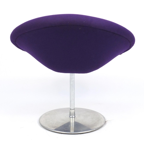 2047 - Artifort globe lounge chair designed by Pierre Paulin, label to the underside, 77cm high...
