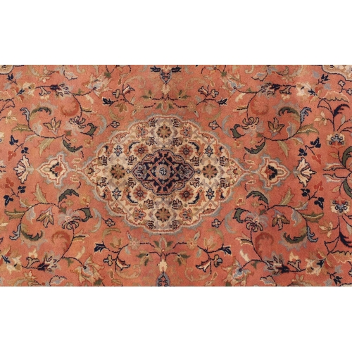 2036 - House of Fraser peach ground floral rug, 250cm x150cm...
