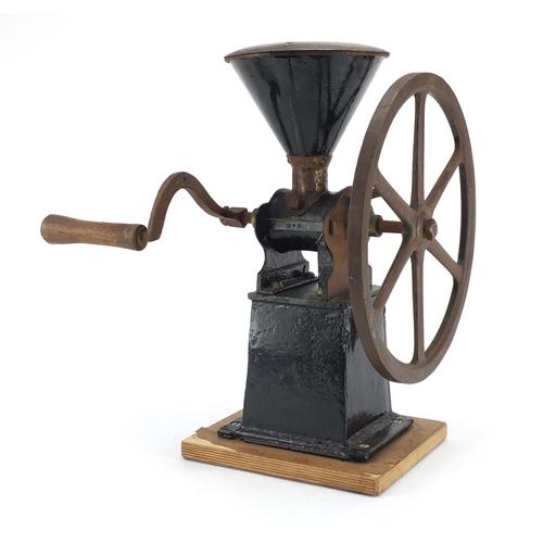 45 - Vintage coffee grinder, 43cm high...