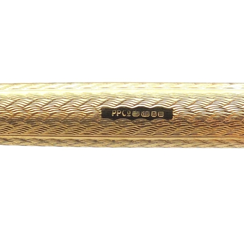 1 - Parker 61 18ct gold propelling pencil with fitted case and box, 30.4g...