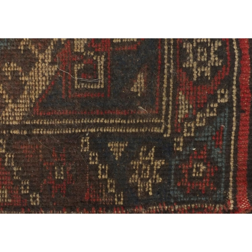 18 - Rectangular Turkish Anatolian carpet runner, the central field having a repeat flower design onto a ...