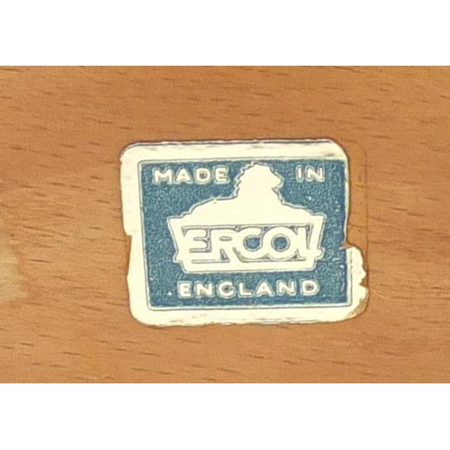 57 - Two Ercol stick back open armchairs...