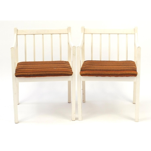 34 - Pair of 1970's spindle back chairs by Goodearl Risboro...