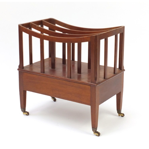 9 - Mahogany Canterbury with frieze drawer, 51cm H x 48cm W x 30cm D...