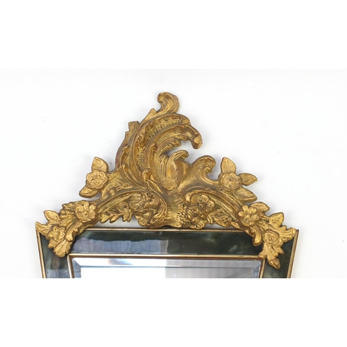 17 - Ornate gilt pier mirror, 90cm high...