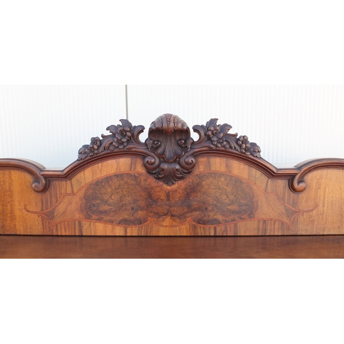 22 - Good German walnut sideboard, on claw an ball feet, 139cm H x 242cm W x 72cm D...