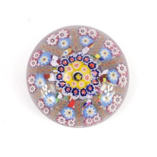669 - 19th century Millefiori glass paperweight, 7.5cm diameter...