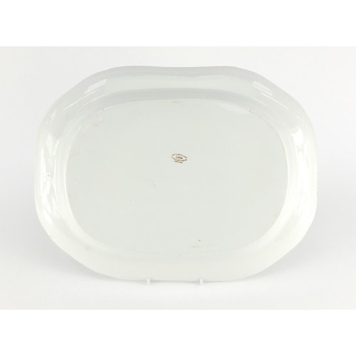24 - Shipping interest Copeland porcelain meat platter from The Royal Yacht, factory and impressed marks ...