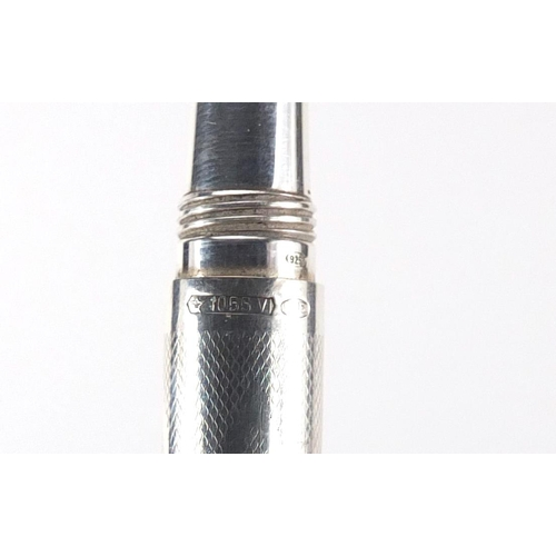 10 - Montegrappa 925 silver ballpoint pen, model 1055VI...