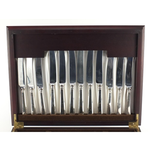 2039 - Arthur Price six place canteen of Sheffield silver plated cutlery, 42cm wide...