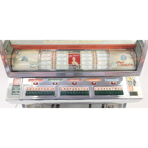 2001 - 1955 Seeburg Select O Matic 200 jukebox, 148cm H x 91.5cm W x 68.5cm D...