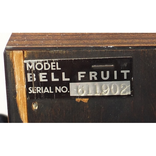 2045 - Vintage One Arm Bandit bell fruit slot machine, 154cm H x 59cm W (including the arm) x 48.5cm D...