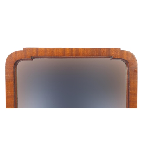 2049 - Victorian mahogany framed cheval mirror with bevelled glass, 153cm high...