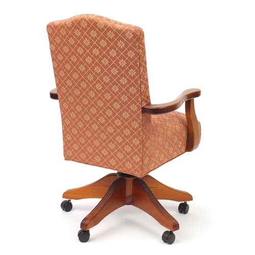 2058 - Pine framed captains chair, 92cm high...