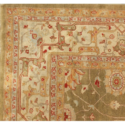 2004 - Good Zeigler carpet having an all over floral design, 50 x 50 knot, 200cm x 299cm...