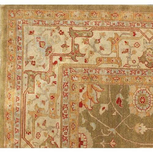 2004 - Good Zeigler carpet having an all over floral design, 50 x 50 knot, 200cm x 299cm...