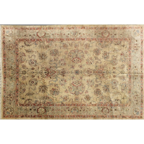 2018 - Good Ziegler carpet having an all over floral design, 35 x 35 knot, 300cm x 240cm...
