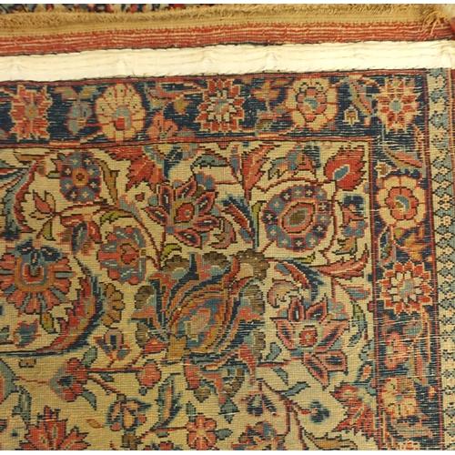 2051 - Rectangular Kashan floral rug, 153cm x 103cm...