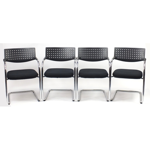 2013 - Set of four Vitra Visavis chairs by Antonio Citterio and Glenn Olivier Löw, 80cm high...