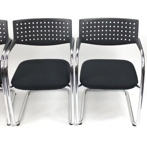 2023 - Set of four Vitra Visavis chairs by Antonio Citterio and Glenn Olivier Löw, 80cm high...