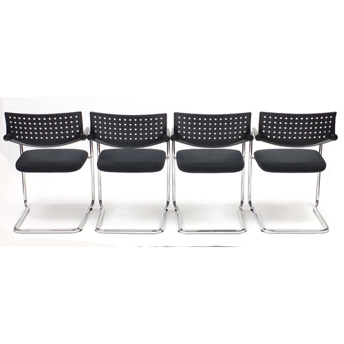2055 - Set of four Vitra Visavis chairs by Antonio Citterio and Glenn Olivier Löw, 80cm high...