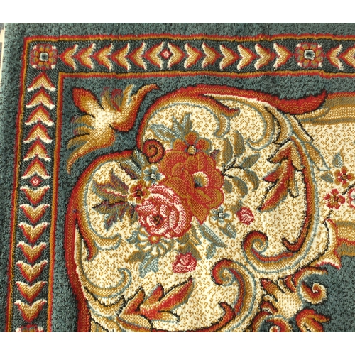 2042 - Rectangular blue ground floral carpet, 370cm x 280cm...