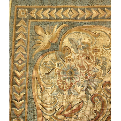 2042 - Rectangular blue ground floral carpet, 370cm x 280cm...