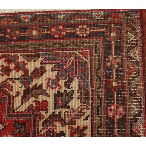 5 - Rectangular carpet runner having an all over stylised floral design, 298cm x 88cm...