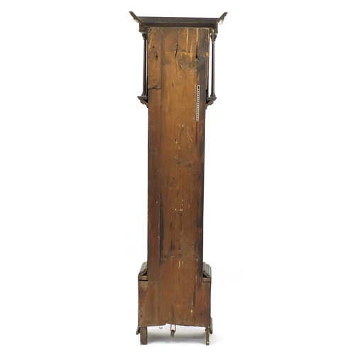13 - 18th century oak long case clock, the dial marked inscribed Roberts Otley 1782, 208cm high...