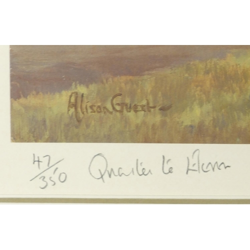52 - Alison Guest - Quarter to Eleven, two hunting pencil signed prints, one limited edition 47/350, both...