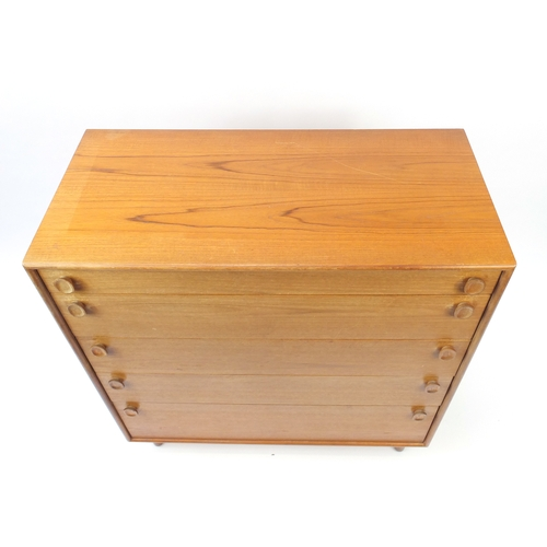 9a - Meredew five drawer chest, 107cm H x 98.5cm W x 46cm...