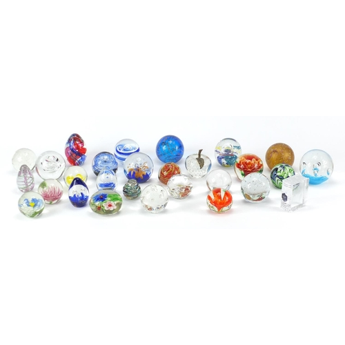 2041 - Collection of colourful glass paperweights...