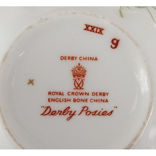 2053 - Royal Crown Derby Derby Poses part tea service teaware including six trio's...