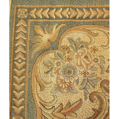 2010 - Rectangular blue ground floral carpet, 370cm x 280cm...
