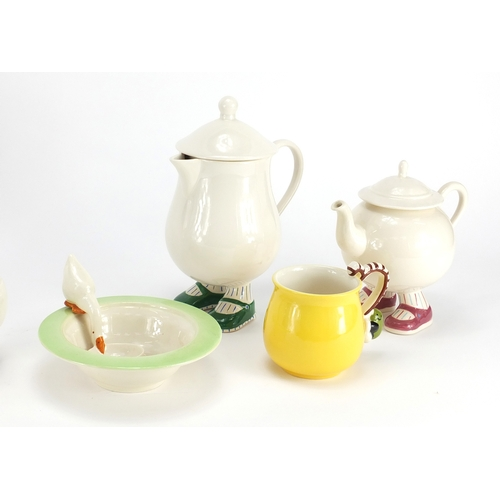 2049 - Carlton Ware including Walking Ware jug, cups and a plate, the largest 22.5cm high...