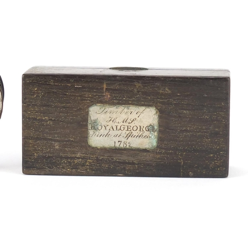 49 - Two 18th century snuff boxes comprising a silver, mother of pearl and tortoiseshell example and one ...