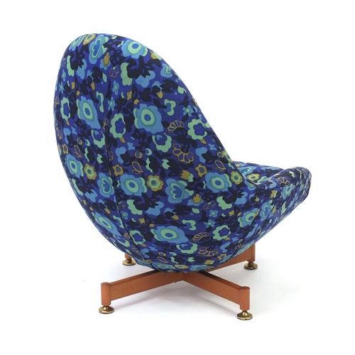 2010 - Vintage fibre glass egg chair by Greaves & Thomas, 93cm high...