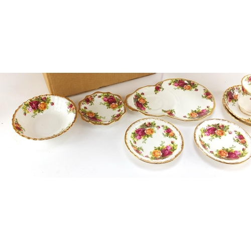 2040 - Royal Albert Old Country Roses including an as new twenty one piece tea set, with box...