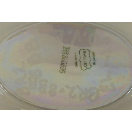 2036 - Shelley Lustre shell design wash jug and basin, 45cm wide...
