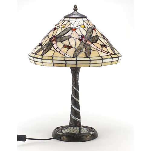 2041 - Tiffany design table lamp with shade, 58cm high...