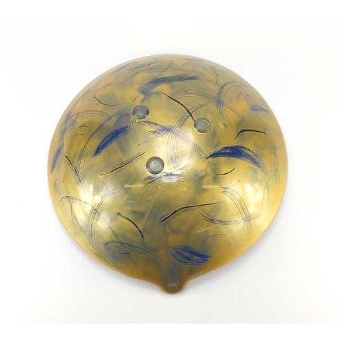 2039 - Large art glass centre bowl, 39cm in diameter...