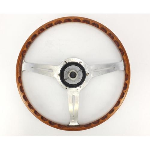 2037 - Vintage Les Leston 16inch steering wheel...