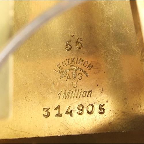 2048 - Burr walnut cased bracket clock, with gilt brass mounts striking on two gongs, the ornate face havin...