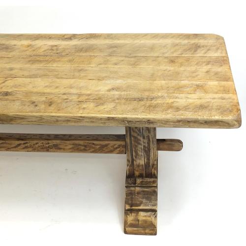 2014A - Oak refectory table, 78.5cm H x 220cm W x 78cm D...