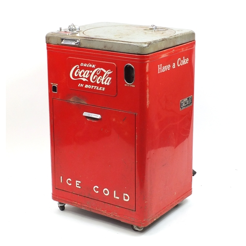 2002 - Retro Coca Cola refrigerator, model A23B 10K, with Vendo Company plaque, 96cm high...