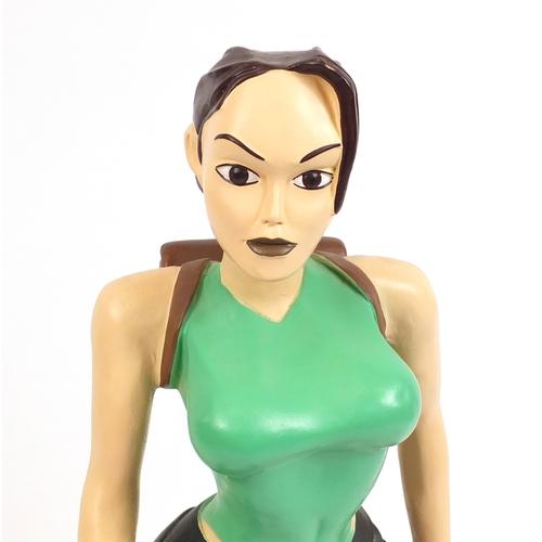 2004 - Large floor standing model of Lara Croft (Tomb Raider), 90cm high...