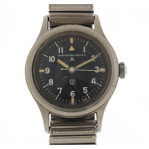 705 - International Watch Co, British Military issue pilots wristwatch with luminous hands, the movement n...