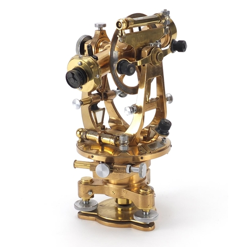 19 - Brass theodolite by Cooke Thoughton & Simms, numbered V015931, 32cm high...