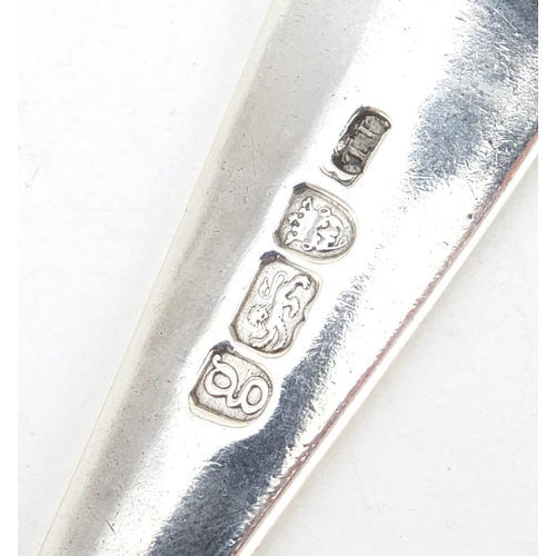 627 - Pair of Georgian silver tablespoons by Thomas Liddiard, London 1782, 21.5cm in length, 119.0g
