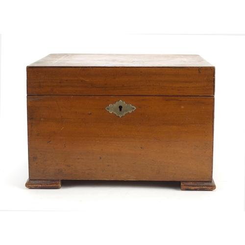 50 - Victorian inlaid walnut polyphone, numbered 74080, 16.5cm H x 24.3cm W x 21.5cm D...